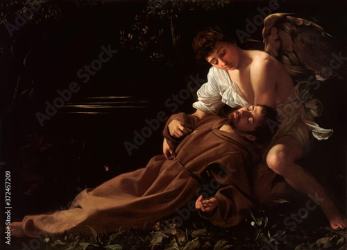 Obraz Saint Francis of Assisi in Ecstacy by Caravaggio - fototapety do salonu