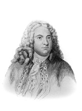 George Frideric Handel, Was A German, Later British, Baroque Composer In The Old Book Biographies Of Famous Composers By A. Ilinskiy, Moscow, 1904