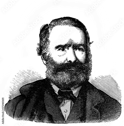 Canvastavla Victor Hugo, was a French poet, novelist, and dramatist in the old book Encyclopedic dictionary by A