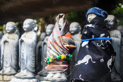 Fototapeta Jizo Statues at a Buddhist shrine in Japan