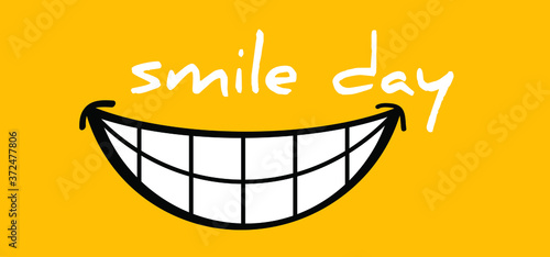 Fotografija Happy world smile day, smiling is loading Big happiness Fun thoughts emoji face