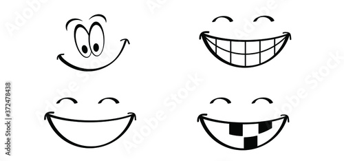 Obraz na plátne Happy world smile day, smiling is loading Big happiness Fun thoughts emoji face