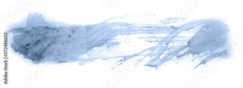 Abstract watercolor background hand-drawn on paper Canvas Print