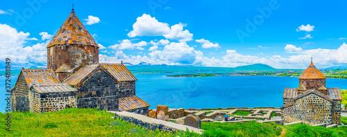 Fotografie, Obraz The view from Sevan Peninsula, Sevanavank Monastery, Armenia