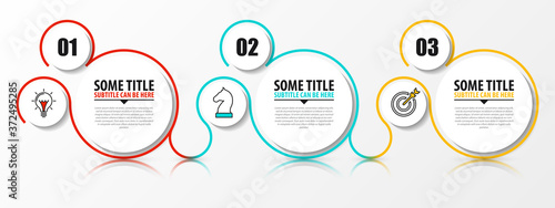 Fotografie, Obraz Infographic design template. Creative concept with 3 steps