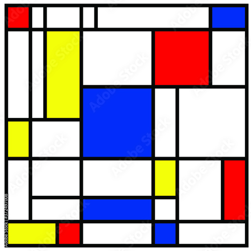 Tapeta czerwona  checkered-piet-mondrian-style-emulation-the-netherlands-art-history-and-holland-painter-dutch-mosaic-or-checker-line-pattern-banner-or-card-geometric-seamless-elements-retro-pop-art-pattern