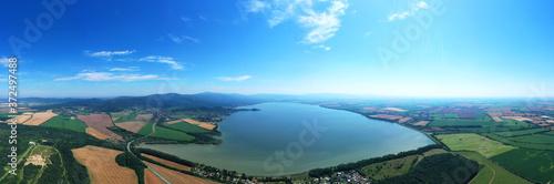 Obraz na plátne Aerial view of Hrhovske ponds near the village of Hrhov in Slovakia