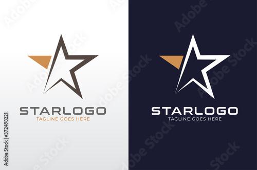 Star Logo, flat style Logo Design Template, vector illustration Billede på lærred