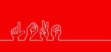 Hand Spelling. Deaf Sign Langu...