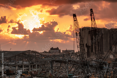 Explosion in Beirut Poster Mural XXL