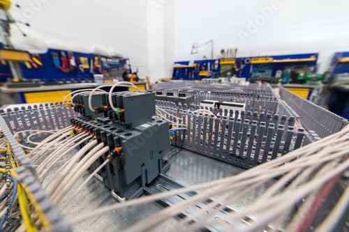 Photo Electricity panel board - a bunch of electric wires