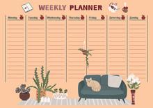 Weekly Planner In Scandinavian...