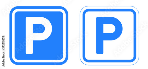 Fotomural Car parking space zone icon