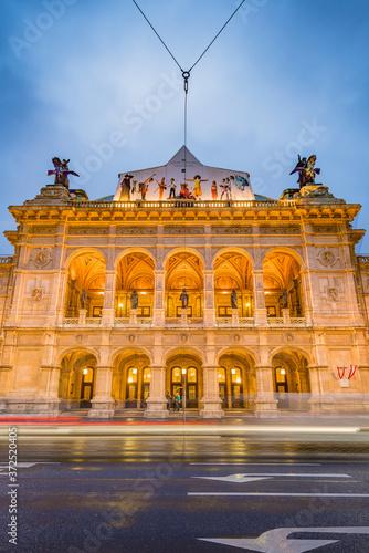 The Vienna State Opera in Austria. Wallpaper Mural