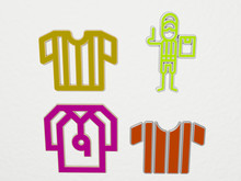 REFEREE 4 Icons Set, 3D Illust...