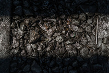 Ballast Stone Gravel Soaked Wi...