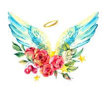 Vintage Watercolor Floral Ange...
