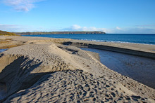 The Beach At Carlyon Bay In Cornwall. Close By Is The Now Derelict Cornwall Coliseum