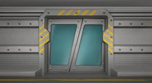 Metal Door With Glass Windows,...