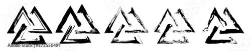 Papel de parede The valknut is a symbol consisting of three interlocked triangles
