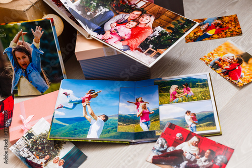 Album with photos, photobook and photo Canvas