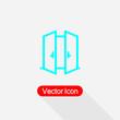 Opened Door Icon Vector Illustration Eps10
