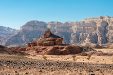 Sculpture Spiral Hill Made By Nature In The Arava Valley Near Eilat. Timna Park. Israel.