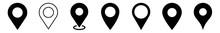 Location Pin Icon Black | Map Marker Illustration | Destination Symbol | Pointer Logo | Position Sign | Isolated | Variations