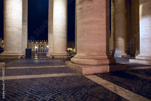 Canvas Saint Peter's Square colonnades in Vatican
