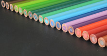 Color Pencils On Dark Backgrou...
