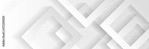 Obraz Grey white abstract background geometry shine and layer element vector for presentation design. Suit for business, corporate, institution, party, festive, seminar, and talks.  - fototapety do salonu