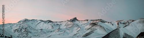 Obraz na płótnie snow covered Cerro Leñas mountain, mendoza, argentina