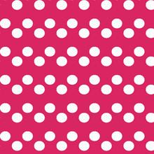 HOT PINK Polka Dots