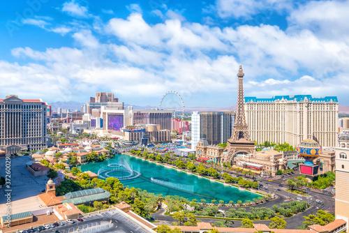 Canvastavla Aerial view of Las Vegas strip in Nevada