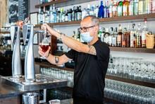 Senior Ethnic Male Barkeeper I...