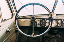 Interior Of Aged Fire Truck Wi...