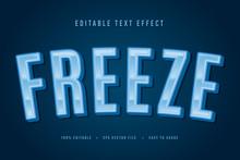 Decorative Freeze Font And Alp...