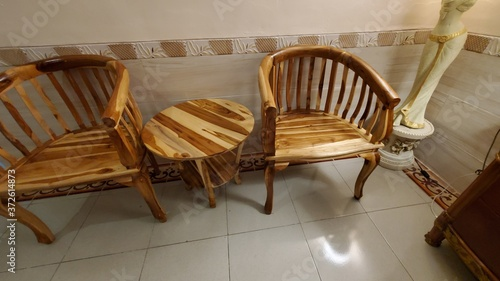 Photo old wooden chair