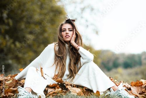 Fotografija Autumn portrait of fashion girl
