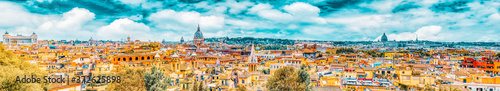 Fotografija View of the city of Rome from above, from the hill of Terrazza del Pincio