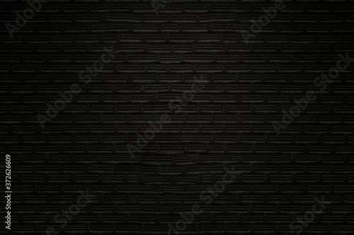 Fototapeta Old black bricks wall texture and background.