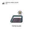 Tinted glass Special lineal color vector icon. Illustration symbol design template for web mobile UI element.