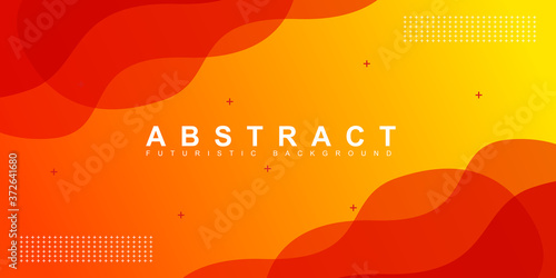 Fototapeta Abstract colorful orange curve background