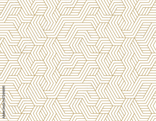 Fotografiet Abstract stripes, line vector seamless pattern