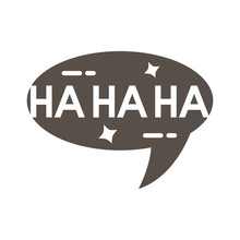 Slang Speech Bubble With Hahah...