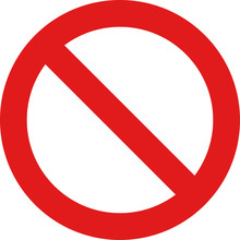 Prohibited Simple Red Sign Icon