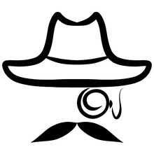Hat, Monocle And Mustache, Det...