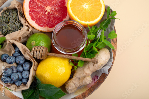 Healthy products for immunity boosting Fototapete