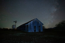 Milky Way Stars Above A Rustic...