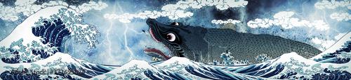 Valokuva 神奈川沖浪裏&鰐鮫  嵐ロングバージョン